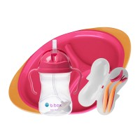 B.box Feeding Set - Sippy Cup, Toddler Cutlery Set, Divided Plate