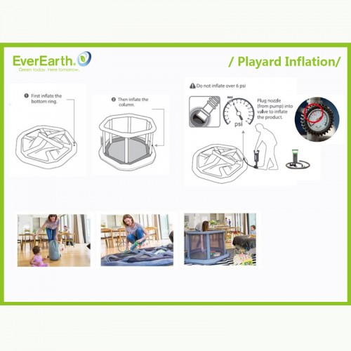 Everearth Portable Inflatable Playard