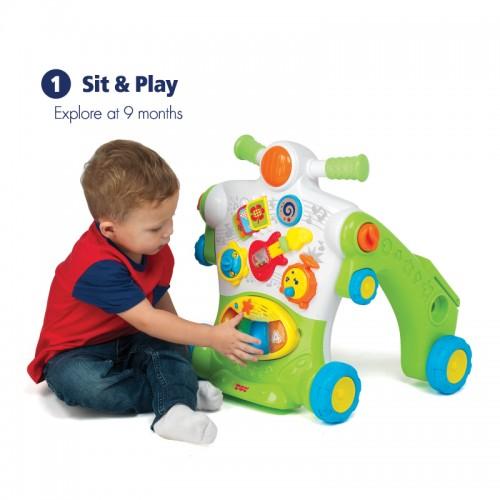 Hap-P-Kid 3-in-1 Musical Ride On Walker | Play | Walk | Ride | 9 -36 months