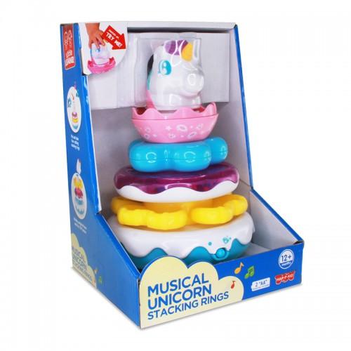 Hap-P-Kid Musical Wobbly Unicorn Stacking Rings