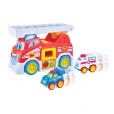 HAP-P-KID Vroom Vroom Fire Truck