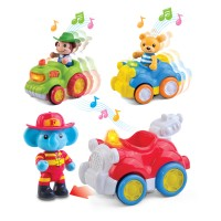 Hap-P-Kid Musical Animal Vehicle (Fire Engine/ Roadster/ Farm Tractor)