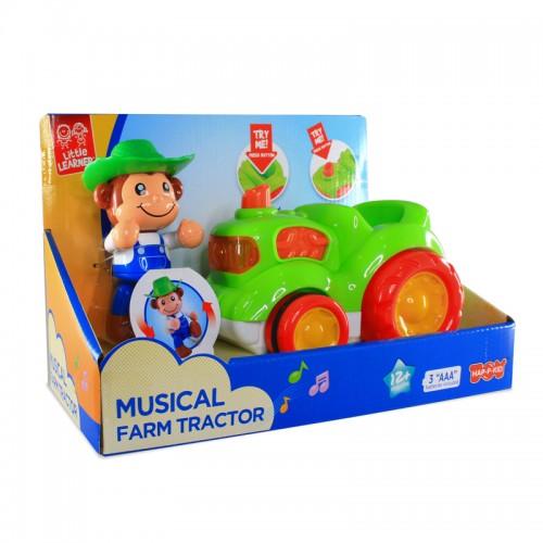 Hap-P-Kid Musical Animal Vehicle (Fire Engine/ Roadster/ Farm Tractor)