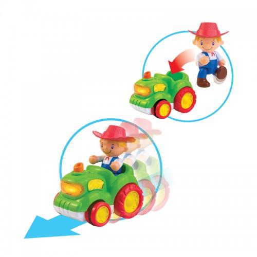 Hap-P-Kid Deluxe Musical Farm Tractor