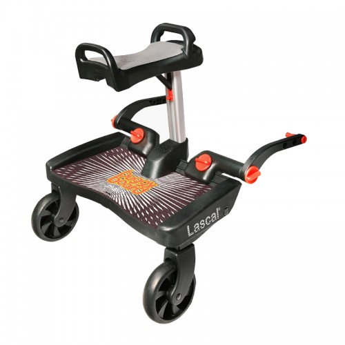 Lascal Buggy Board Maxi + Buggy Board Saddle + FREE Delivery (Black + Red / Black + Blue + Blue/ Black + Grey)