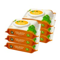 LITTLE TREE Baby Wipes ( All-in-one Mouth & Hands) - 80 wipes (Bundle of 6)