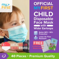 Oaxis MyFirst 3-ply Disposable Kids Mask - 40 pcs + FREE GIFT (Limited Edition Mask Holder)