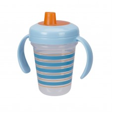 THE FIRST YEARS Stackable 7oz Soft Spout Trainer Cup - Blue Pattern