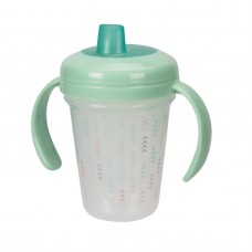 THE FIRST YEARS Stackable 7oz Soft Spout Trainer Cup - Green Pattern