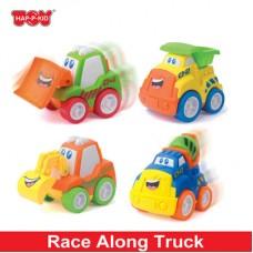 HAP-P-KID Race Along Truck (Cement Truck/Bulldozer/Excavator/Dump Truck)